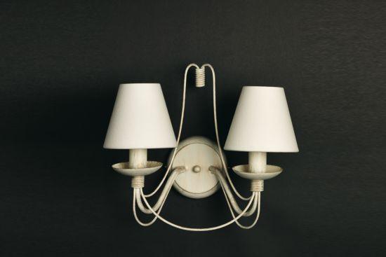 Wandlamp avorio+zwart E14
