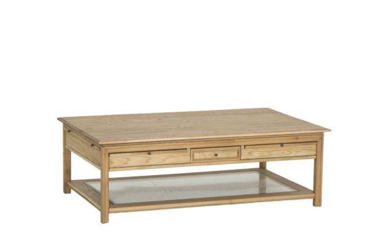 Salontafel Sovereign hout massief met opbergruimte