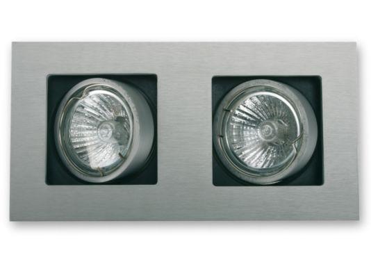 Inbouwspot LED aluminium 2x5W GU10