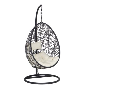 Hangstoel Bird Nest zwart