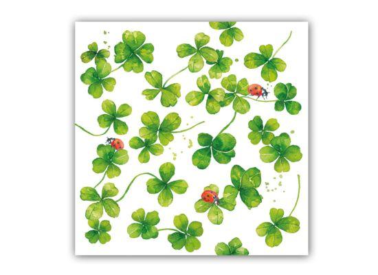 Servet Luck 33x33cm groen 20 stuks