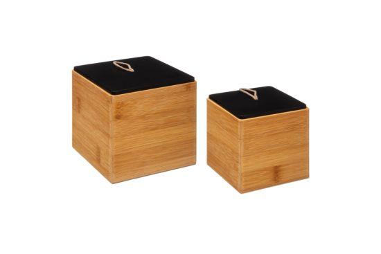 Bewaardoos Bamboe, set van 2