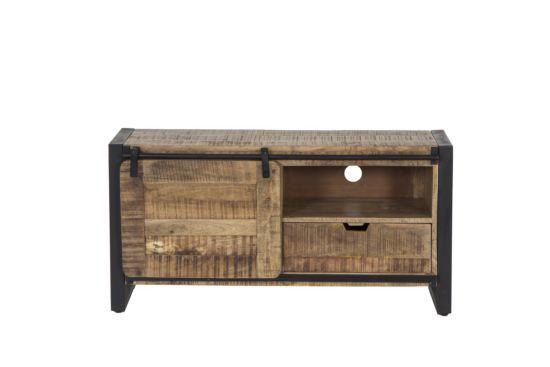 Industrieel tv-meubel Woodstock mangohout 120cm