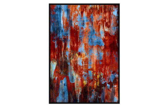Foto met kader Blue Blood 82,6x122,6cm