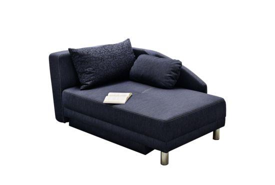 Chaise longue Roy Recamière met bedfunctie stof blauw