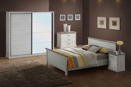 Slaapkamer Ella met bed 160x200cm - kleerkast 220cm