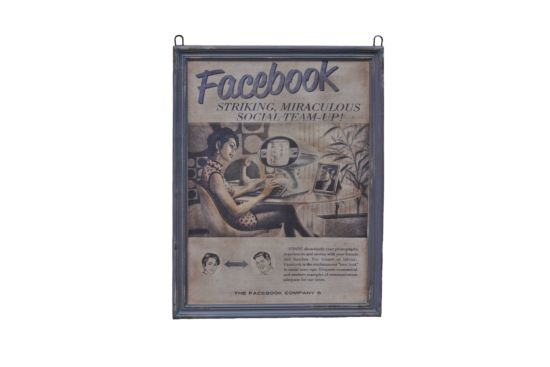 Wanddecoratie Social Media 71x92cm