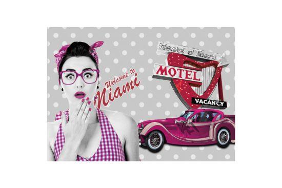 Print op canvas Miami 50x70cm