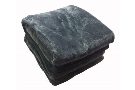 Plaid Metallique 150x200cm donkergrijs