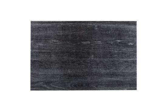 Placemat Ebben houtlook 45x30cm zwart