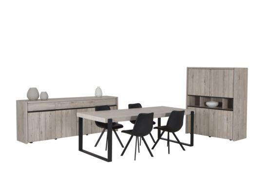 Eetkamer met 4 stoelen Frantz