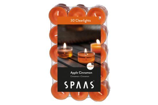 Theelichtjes Clearlights 4,5u oranje, 30 stuks