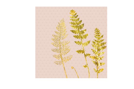 Servet Jardin Deco 33x33cm roze goud