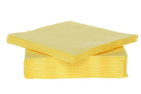 Servet CT Prof 25x25cm geel 40 stuks