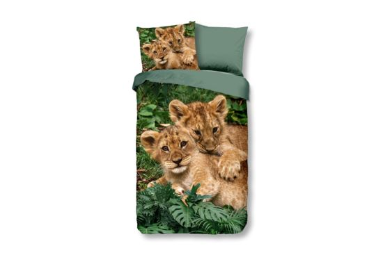Dekbedovertrek Lion Cubs 140x220cm katoen
