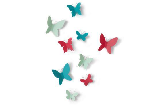 Wanddecoratie Mariposa set van 9