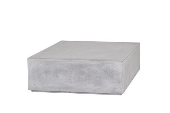 Salontafel Quantum vierkant 80x80cm glasvezel/beton