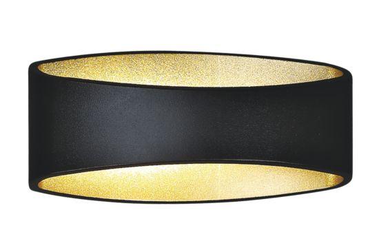 Wandlamp zwart goud 5W