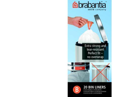 Afvalzak Brabantia 18L maat B 20 stuks
