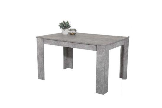 Tafel 120x80cm grijs beton