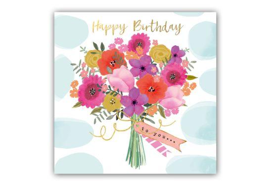 Servet Happy Flowers 25x25cm multicolor 20 stuks