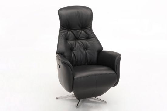 Relaxzetel Relax 7002 elektrisch leder zwart
