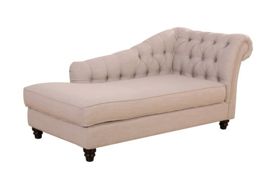 Chaise longue Courtisane stof beige