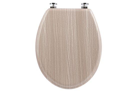 Wc-bril houtkleur