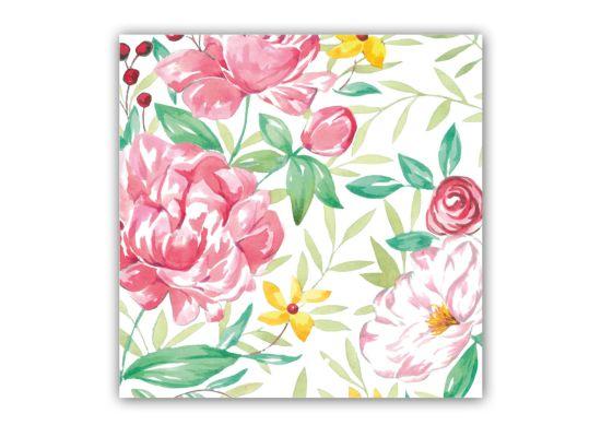 Servet Madame Rose 33x33cm roze 20 stuks
