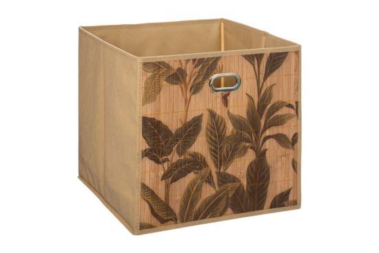Mand Bamboe Print 31x31x31cm