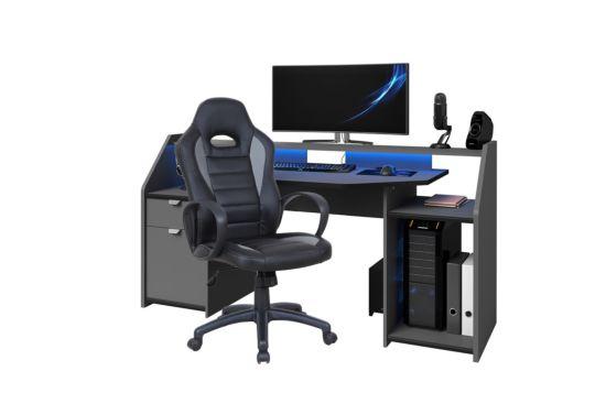 Bureaustoel Maquina zwart grijs