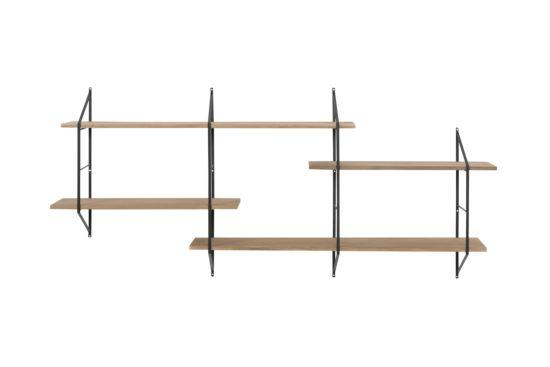 Wandrek 120/230x25,5x79cm bruin zwart