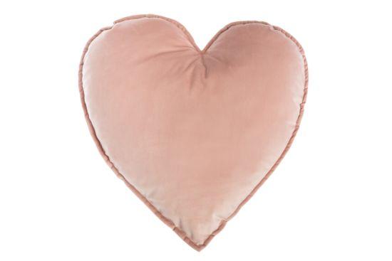 Kussen Hart  49,5x45cm roze