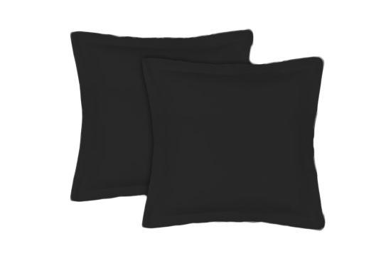 Kussensloop Sac 65x65cm zwart, set van 2