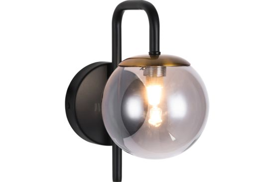 Wandlamp zwart grijs brons 2,5W