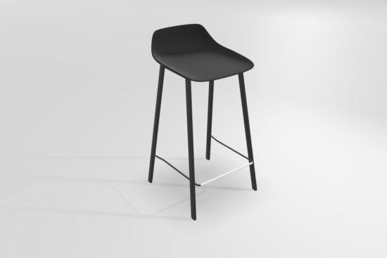 Barstoel Louis Zh65cm kunststof zwart