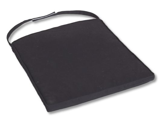 Stoelkussen Kobe 47x43cm zwart