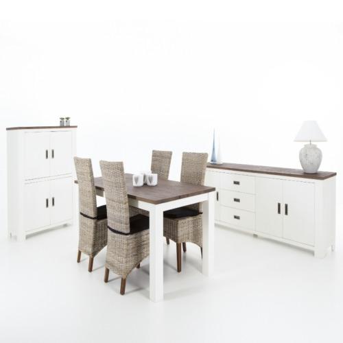 Eetkamer cassandra met 4 stoelen kobe eetkamersets for Salle a manger weba