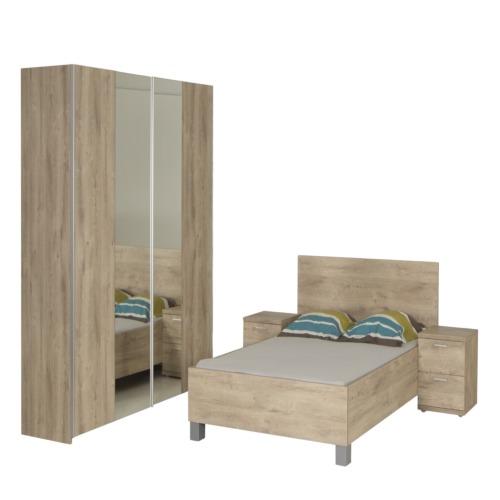 Chambre coucher emma avec lit 180x200cm weba meubles for Chambre a coucher weba