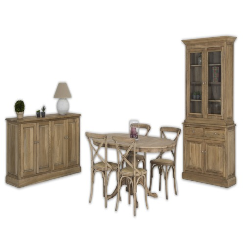 Salle manger armida avec 4 chaises paris weba meubles for Meuble salle a manger paris