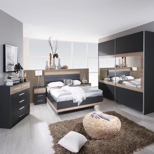 chambre coucher avec lit 160x200cm weba meubles