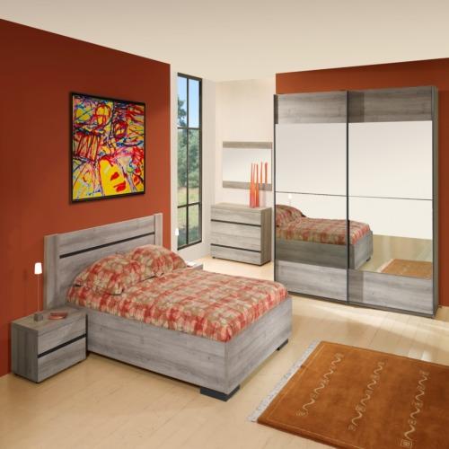 Chambre coucher avec lit 140x200cm weba meubles for Chambre a coucher weba