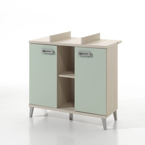 Commode avec table langer verdi 130x97x65cm weba meubles for Meuble a langer mural