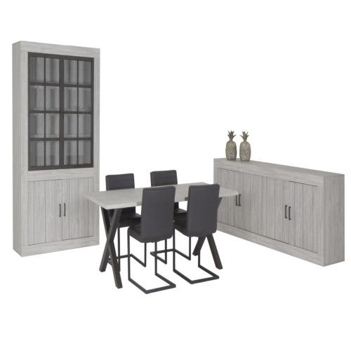 Salle manger avec 4 chaises barrio weba meubles for Salle a manger weba