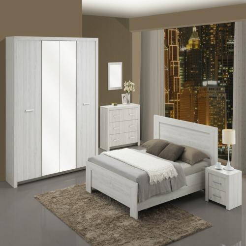 Chambre coucher evoque avec lit 160x200cm weba meubles for Chambre a coucher weba