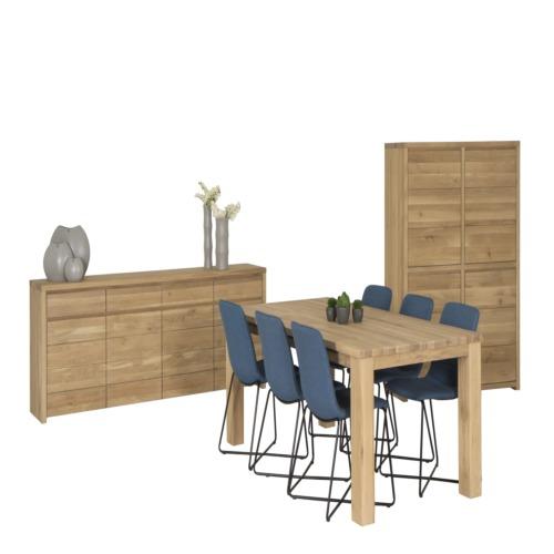 Salle manger amarillo avec 6 chaises jack weba meubles for Salle a manger weba