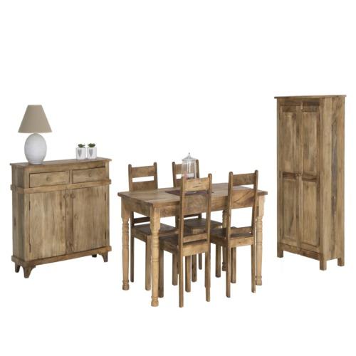 Salle manger vocale avec 4 chaises bloom weba meubles for Salle a manger weba