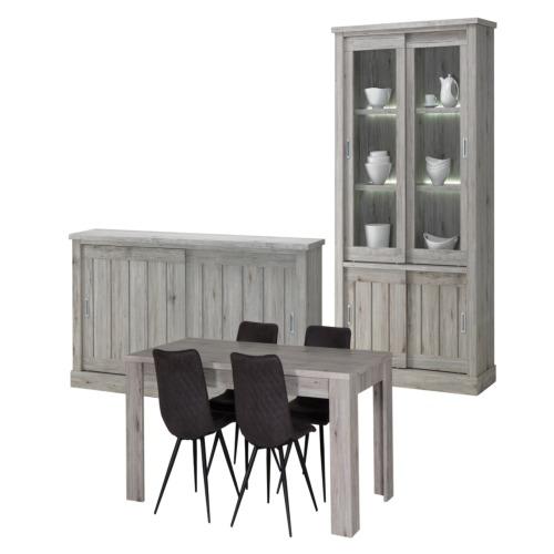 Salle manger eddy avec 4 chaises s80 weba meubles for Salle a manger weba