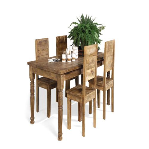 Salle manger vocale avec 4 chaises mantra weba meubles for Salle a manger weba