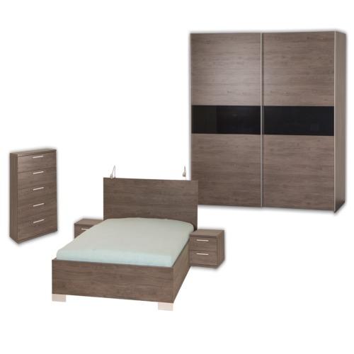 Chambre coucher stella avec lit 160x200cm weba meubles for Chambre a coucher weba